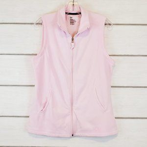 GAP Women's Pink Fleece Vest Full Zipper Large